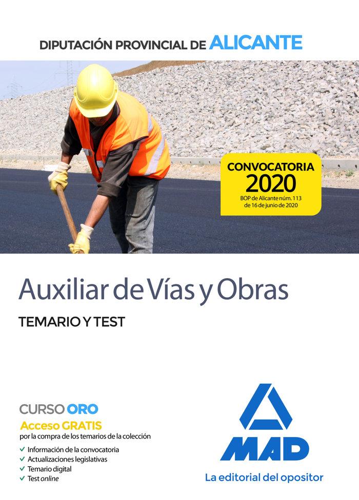 Auxiliar de vias y obras de la diputacion provincial de alic