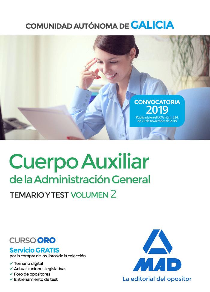 Cuerpo auxiliar administracion general temario y test vol 2