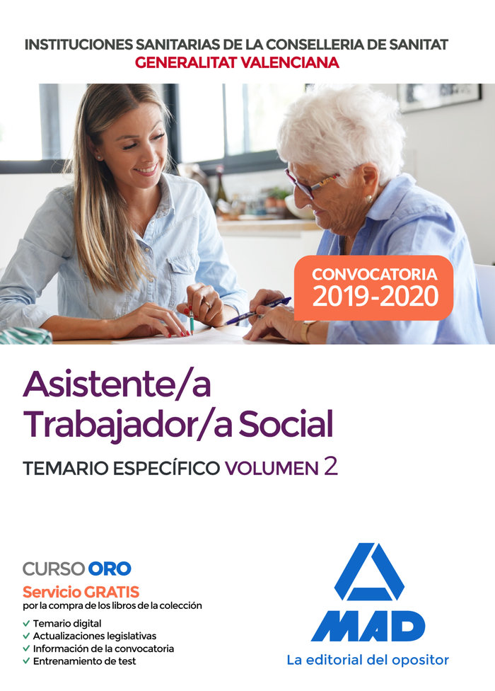 Asistente/a trabajador/a social institucion sanitaria vol 2