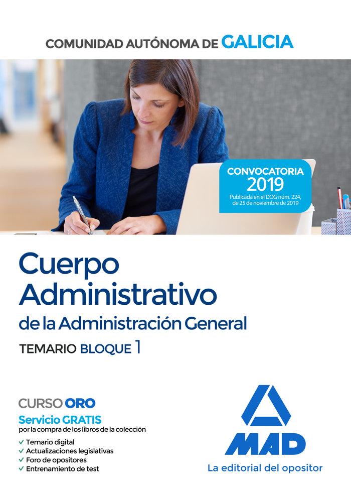 Administrativo comunidad galicia temario bloque i