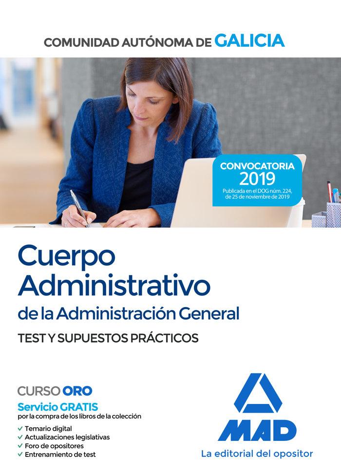 Cuerpo administrativo administracion general test y supuest
