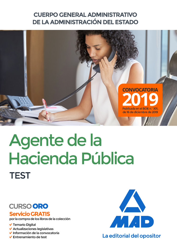Agentes hacienda publica cuerpo general administrativo test