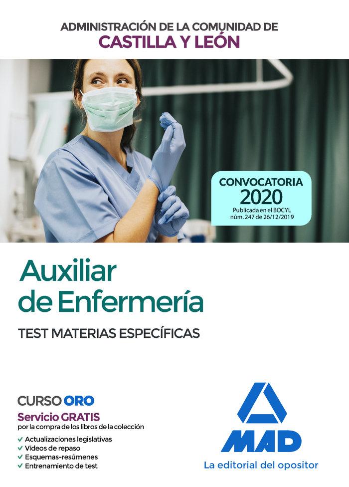 Auxiliar enfermeria castilla leon test