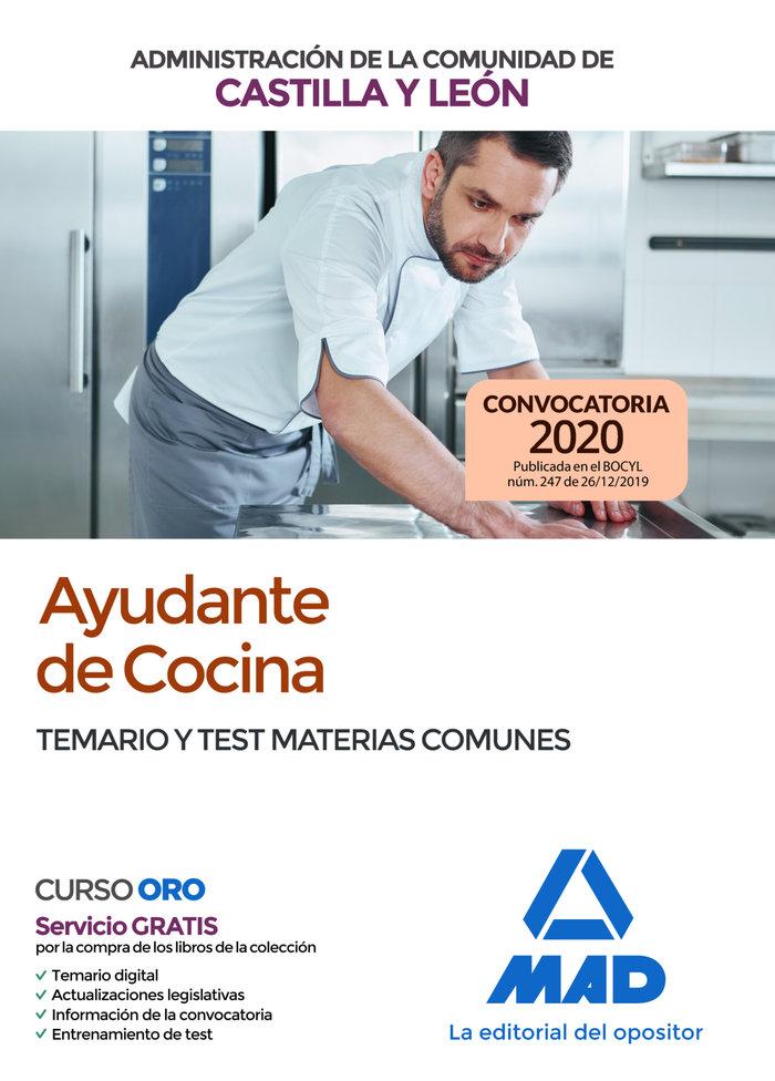 Ayudante cocina administracion castilla leon temario test