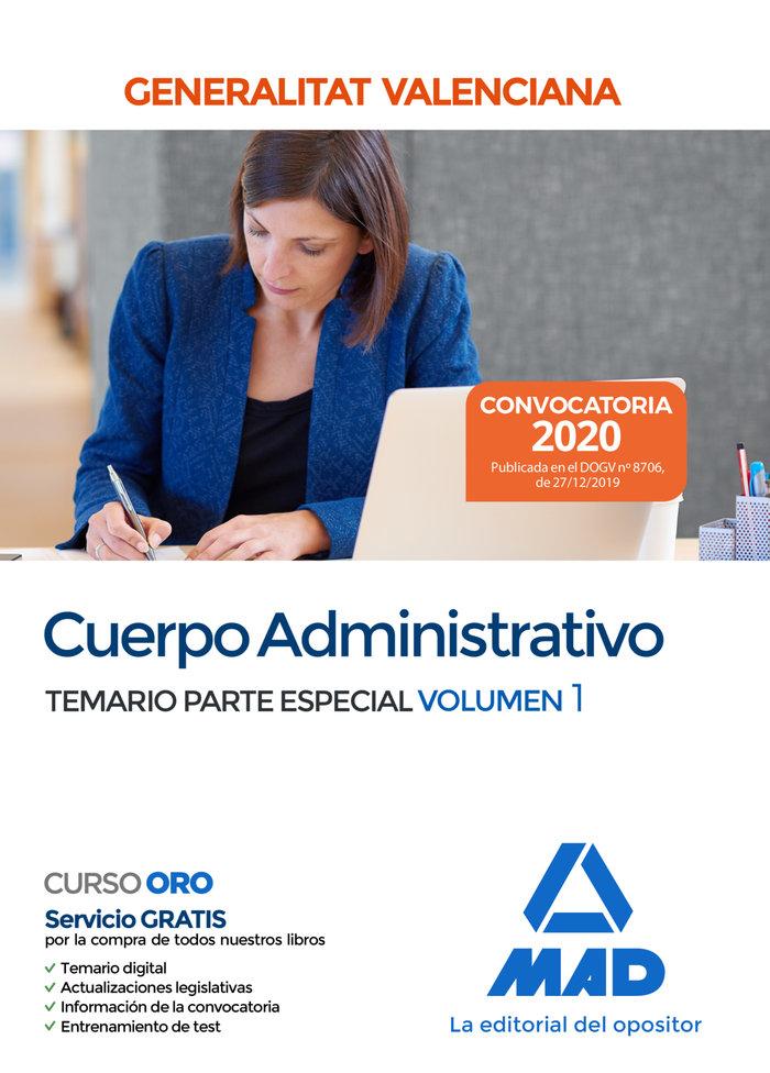 Cuerpo administrativo de la generalitat valenciana. temario