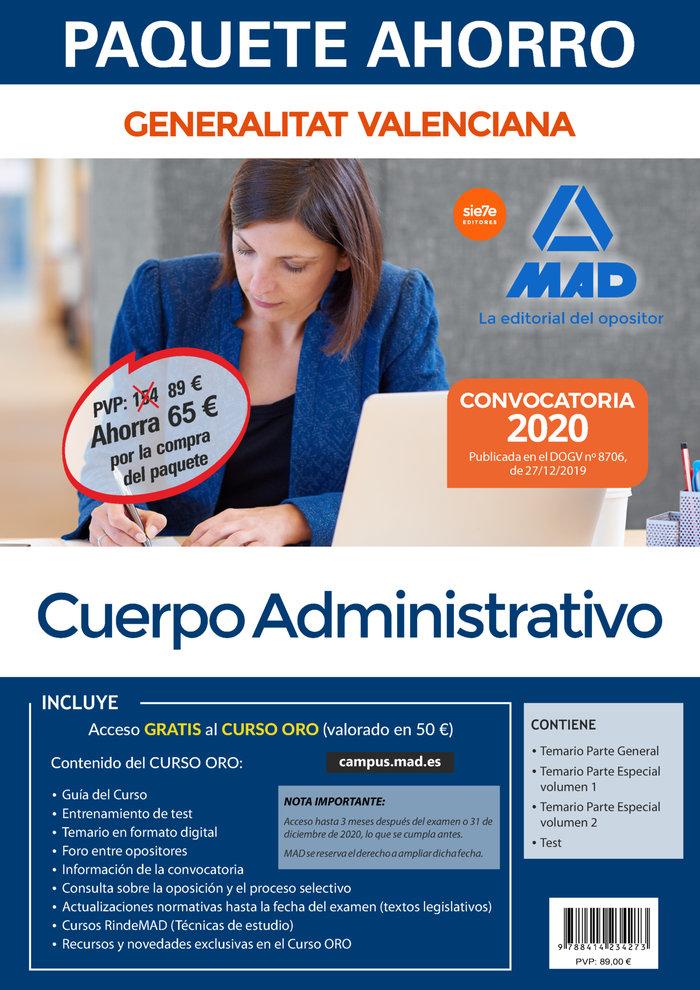 Paquete ahorro administrativo de la generalitat valenciana.