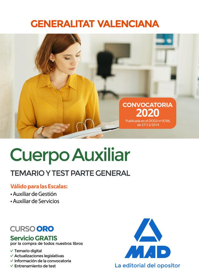 Cuerpo auxiliar generalitat valenciana temario y test
