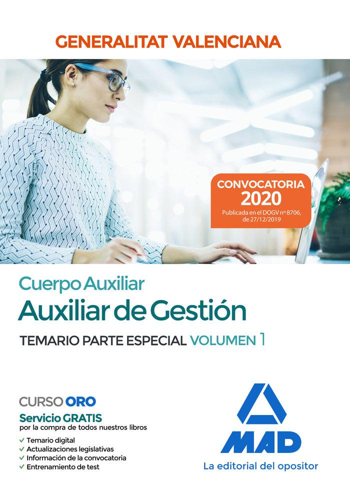 Cuerpo auxiliar generalitat valenciana temario vol 1