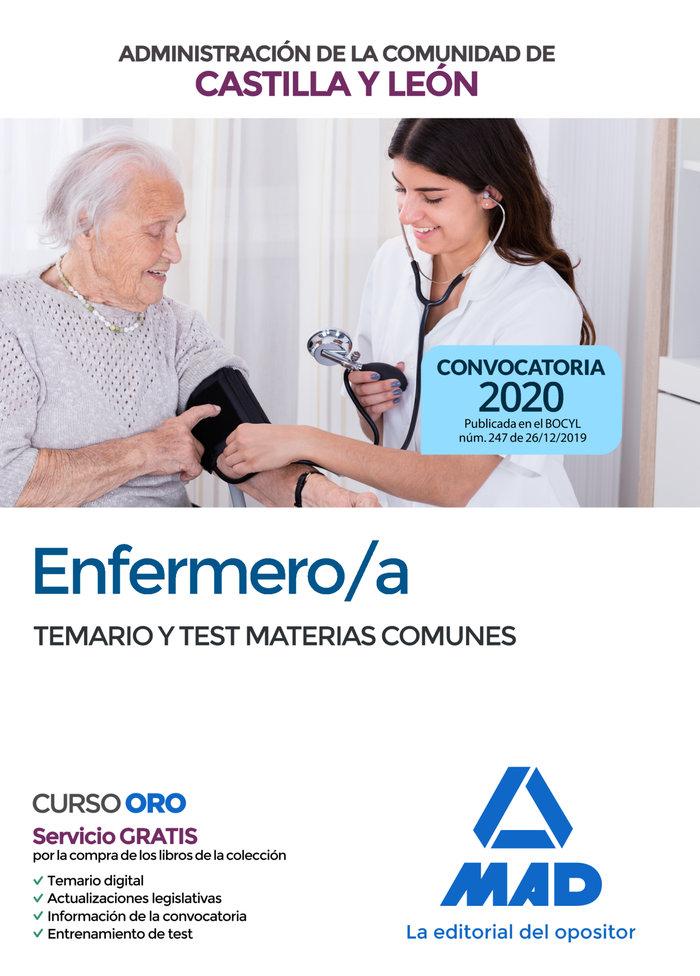 Enfermero/a temario y test materias comunes castilla leon