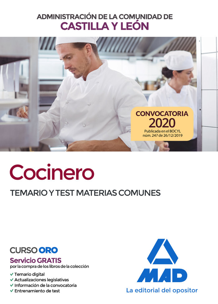 Cocinero administracion comunidad castilla leon test