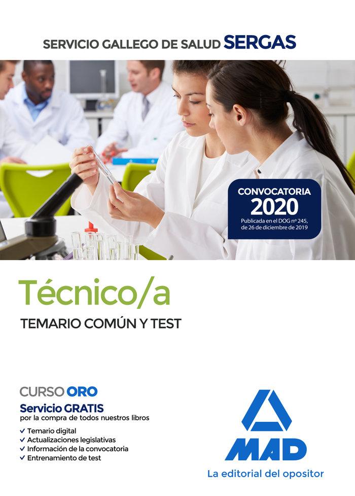 Tecnico/a servicio gallego salud temario comun y test