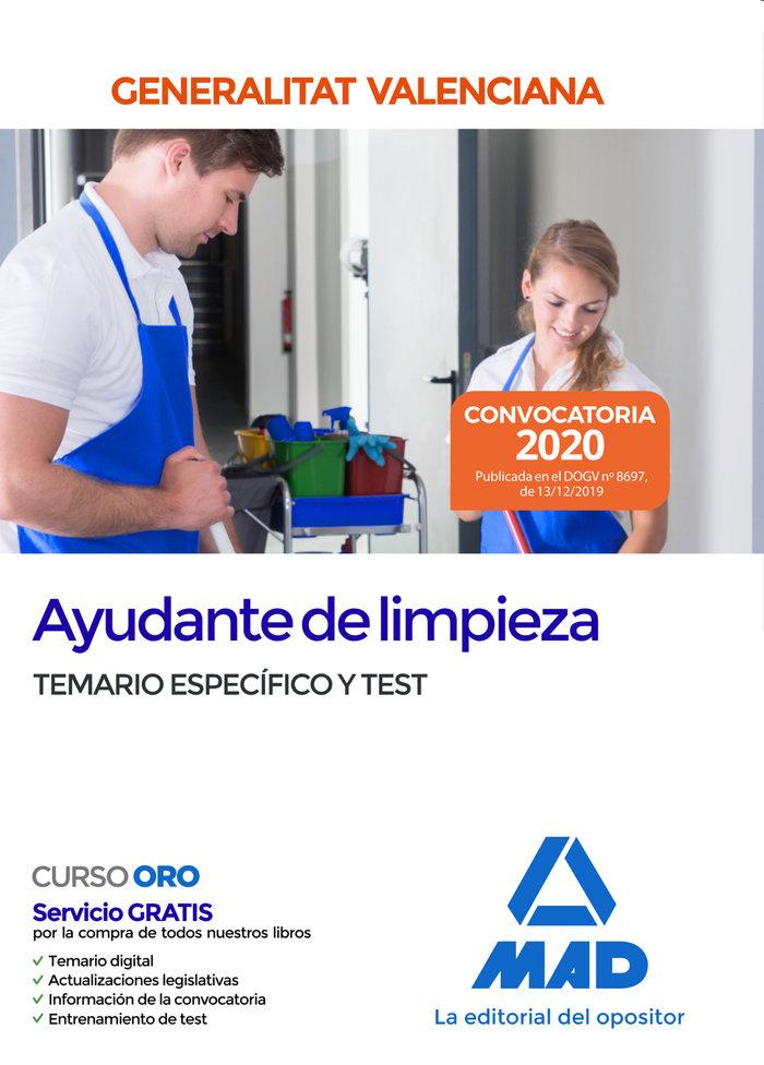 Ayudante limpieza administracion valenciana temario