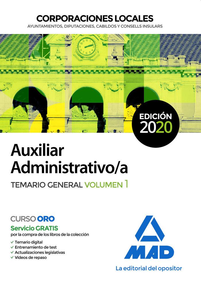 Aux administrativo corporaciones locales temario vol 1 2020