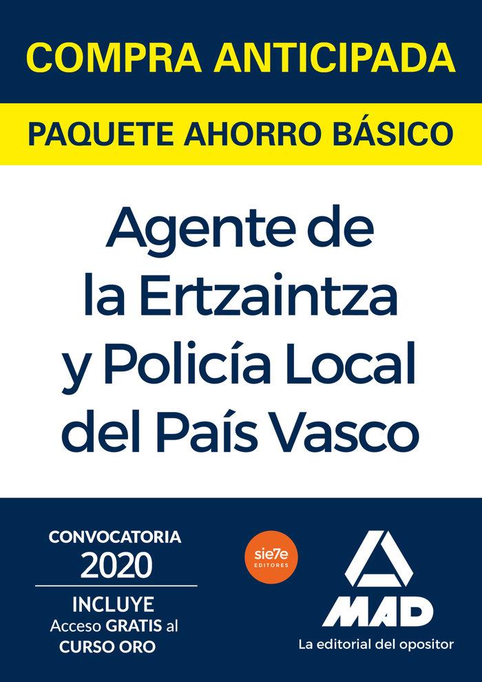 Paquete ahorro basico ertzaintza y policia local del pais va