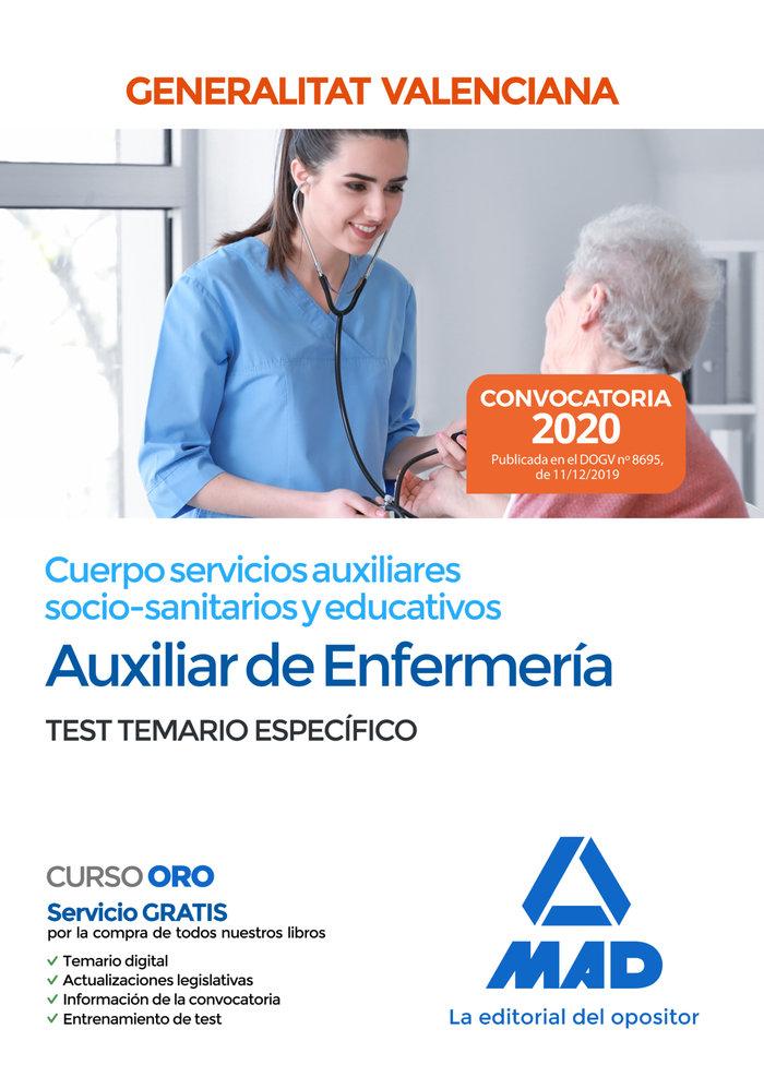 Cuerpo servicio auxiliar socio sanitarios educativos test