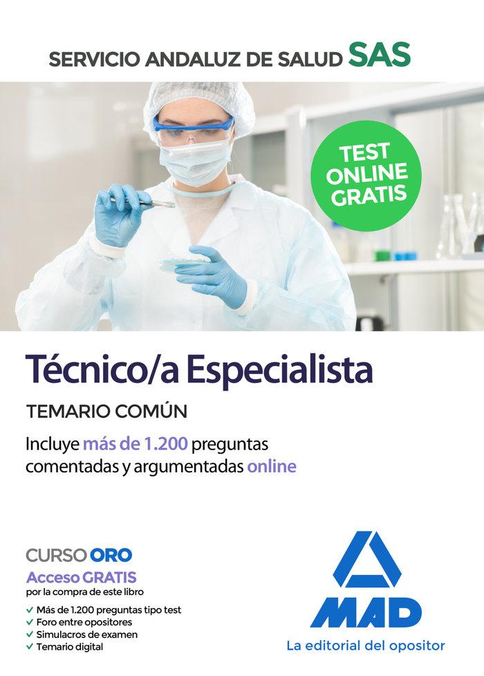 Tecnico/a especialista servicio andaluz salud temario comun