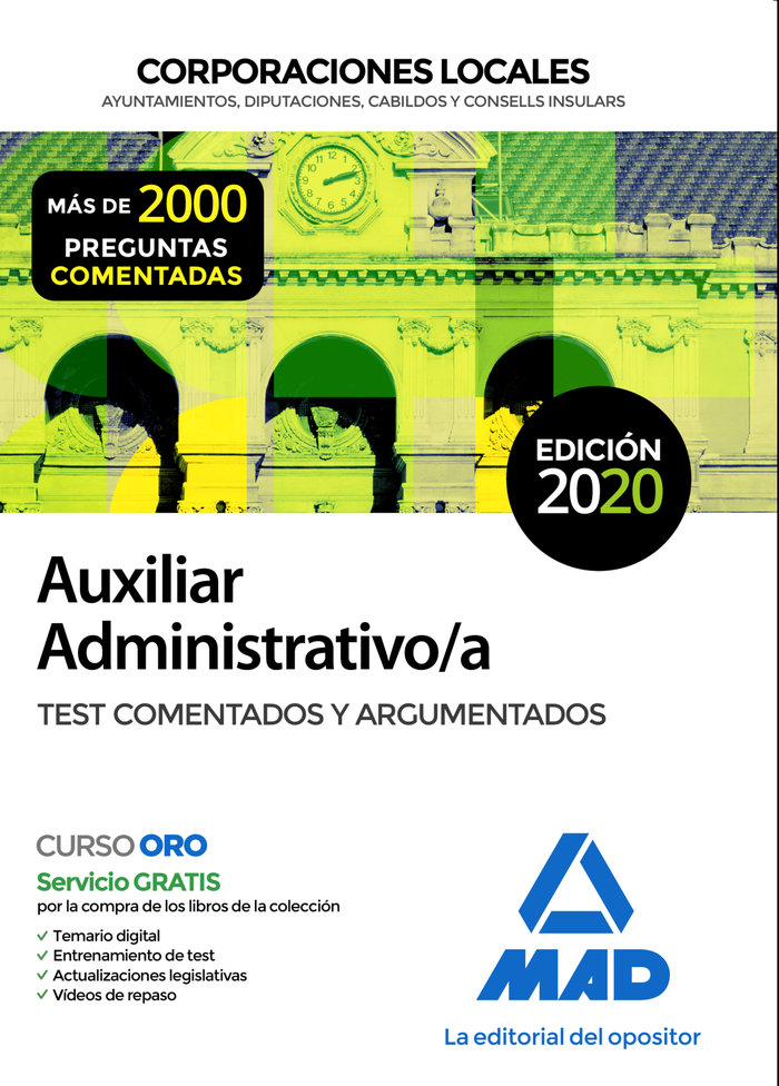 Aux administrativo corporaciones locales test comentad 2020