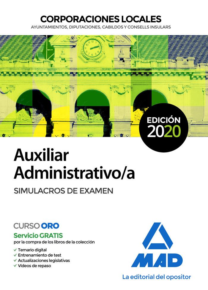 Auxiliar administrativo corporacion local simulacro examen