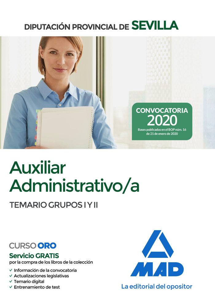 Auxiliar administrativo/a de la diputacion provincial de sev