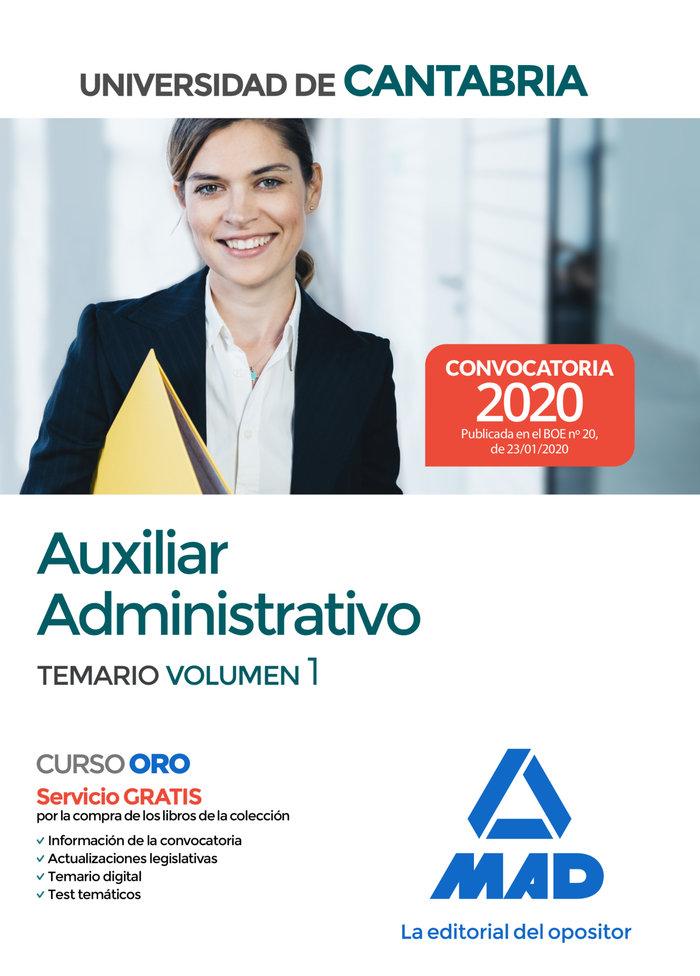Auxiliar administrativo de la universidad de cantabria. tema