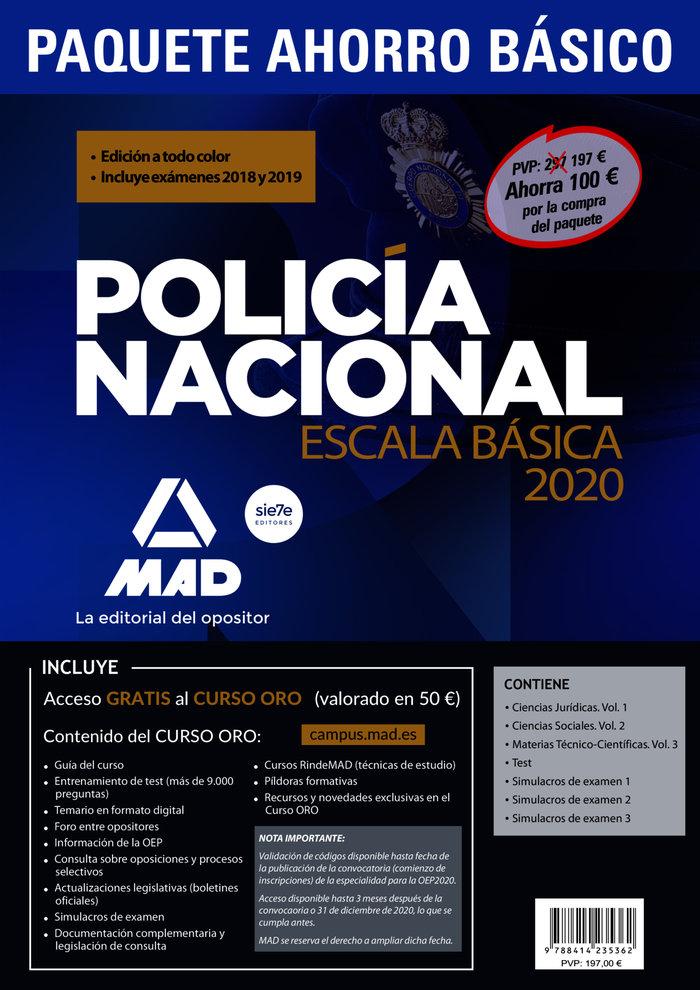 Paquete ahorro basico escala basica policia nacional 2020. a