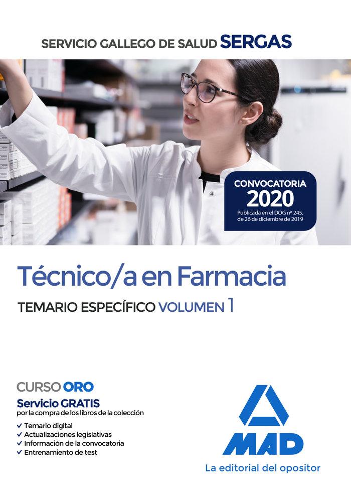 Tecnico farmacia servicio gallego temario especifico vol 1