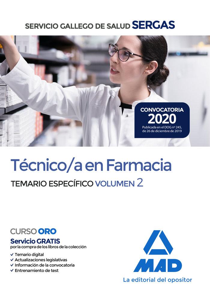 Tecnico/a farmacia servicio gallego salud t especifico v.2