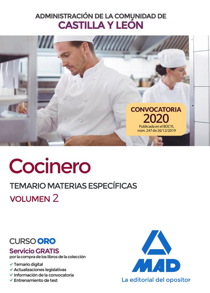 Cocinero de la administracion de la comunidad de castilla y