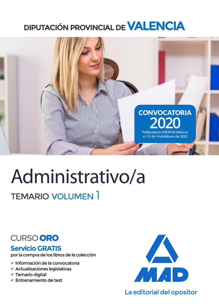 Administrativo diputacion provincial valencia temario 1
