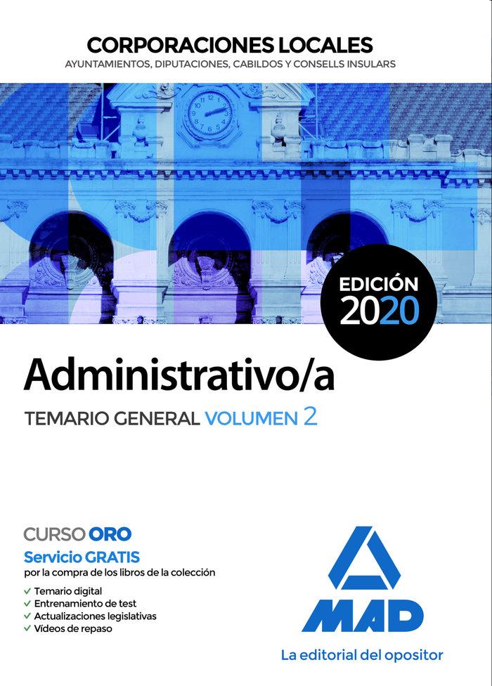Administrativo/a corporacion local temario general vol 2