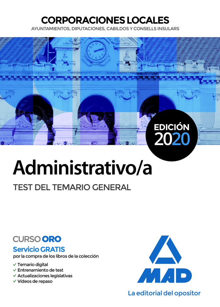 Administrativo/a corporacion local test del temario
