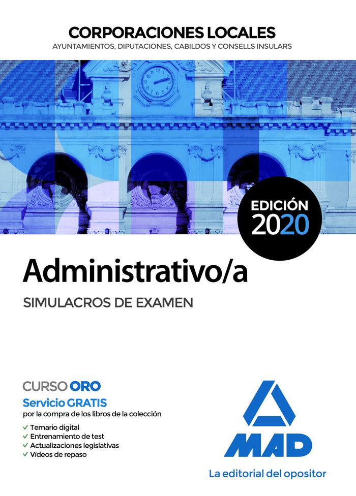 Administrativo/a corporacion local simulacro examen
