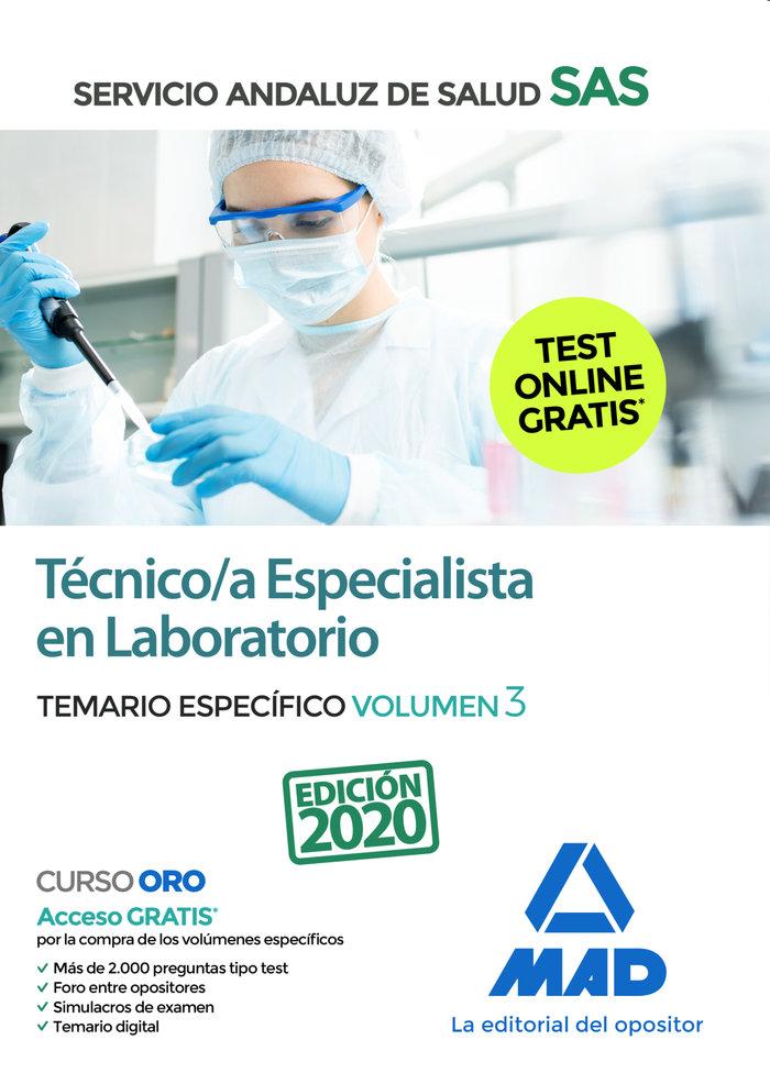 Tecnico/a especialista laboratorio sas temario espec vol 3