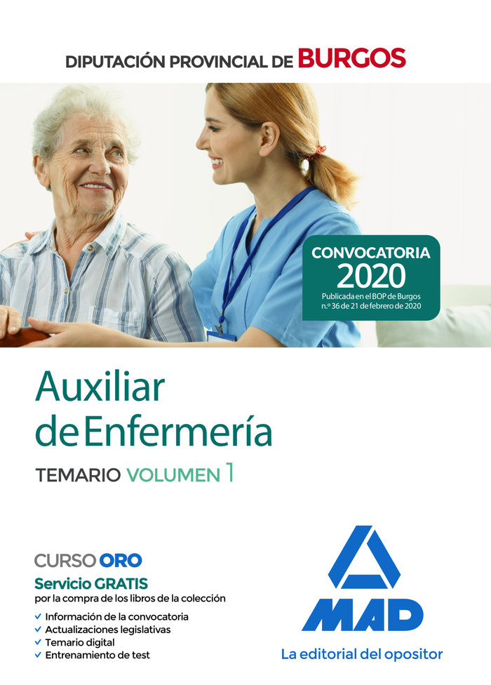 Auxiliar enfermeria diputacion provincial burgos vol 1