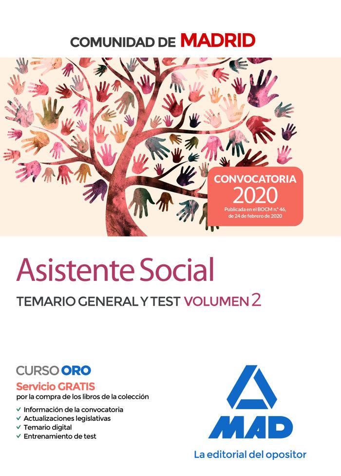 Asistente social comunidad madrid temario general test 2