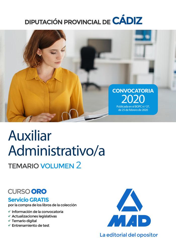 Auxiliar administrativo/a de la diputacion provincial de cad