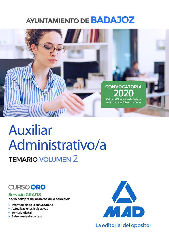Auxiliar administrativo ayuntamiento badajoz temario vol 2