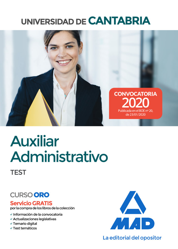 Auxiliar administrativo de la universidad de cantabria. test