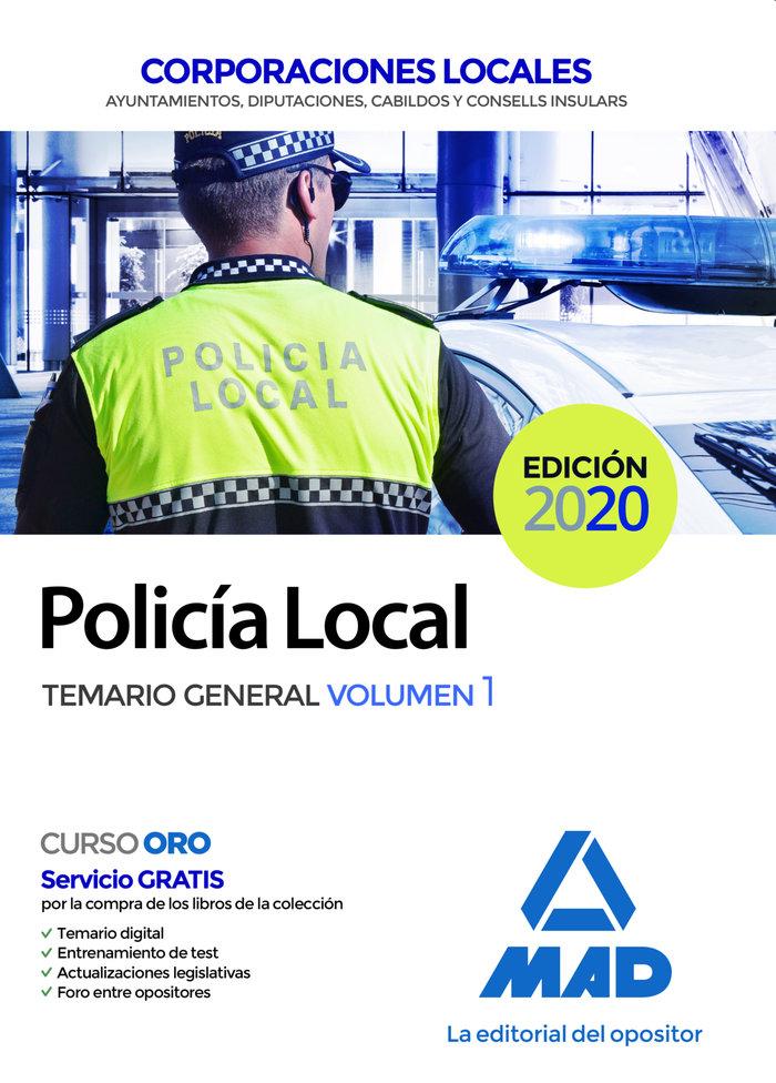 Policia local temario general volumen 1
