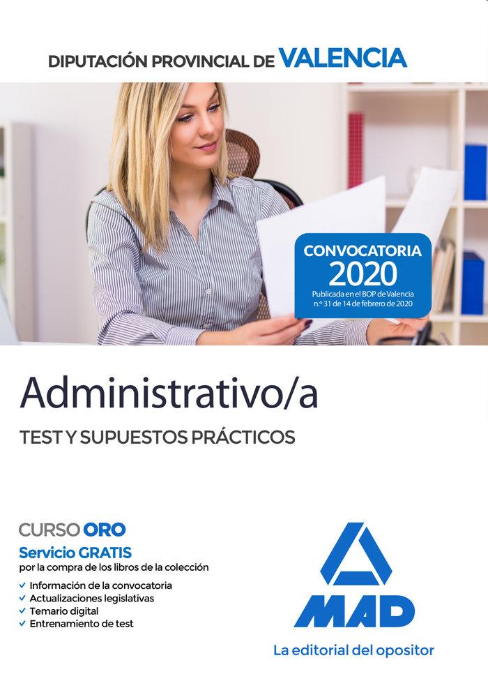 Administrativo/a diputacion provincial valencia test supues