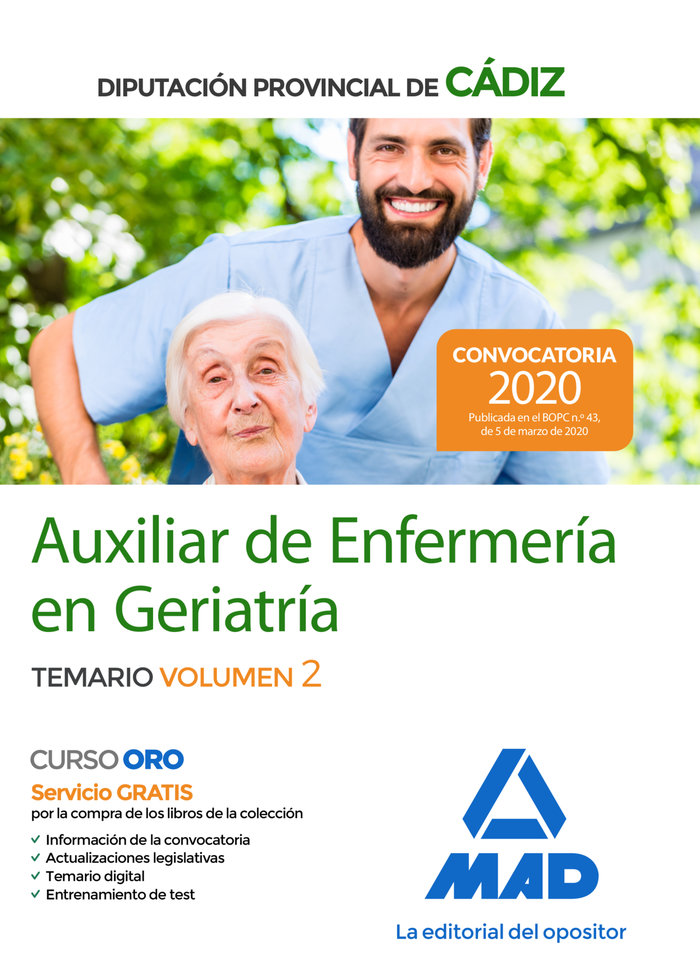 Auxiliar enfermeria geriatria diputacion cadiz vol 2