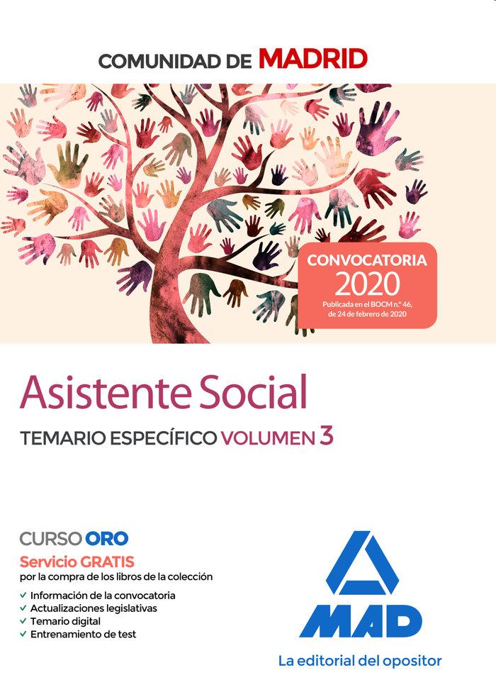 Asistente social comunidad madrid temario especifico vol 3