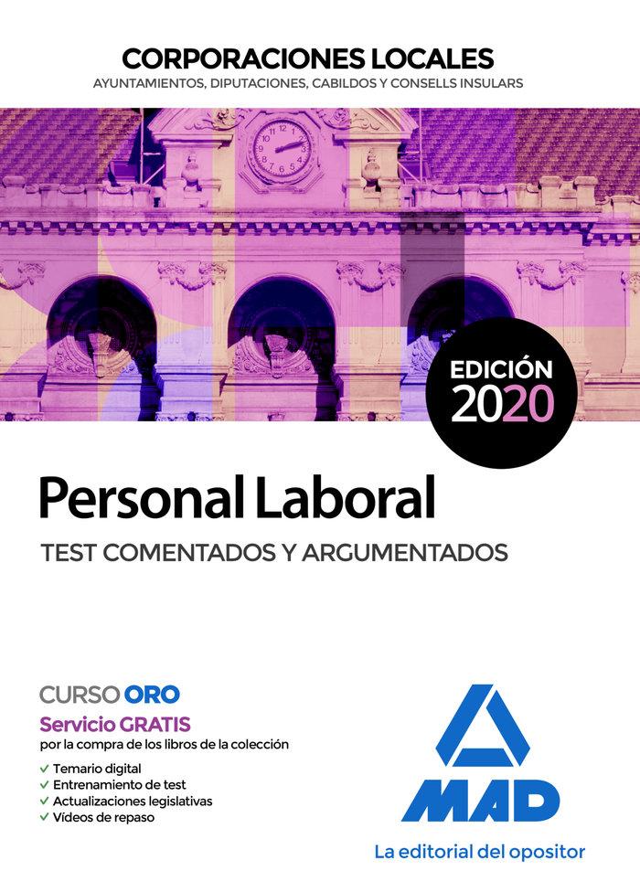 Personal laboral corporacion local test comentados