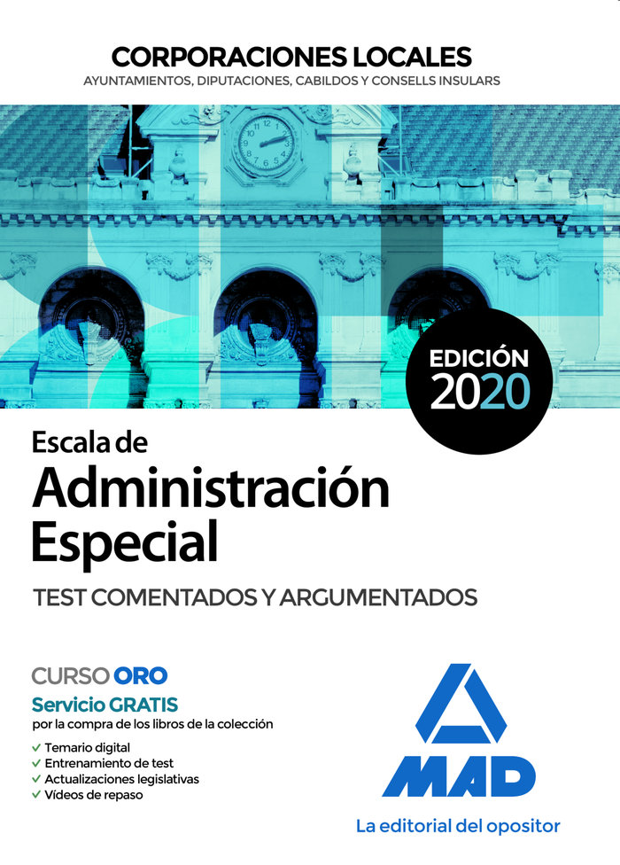 Escala administracion especial corporacion local test