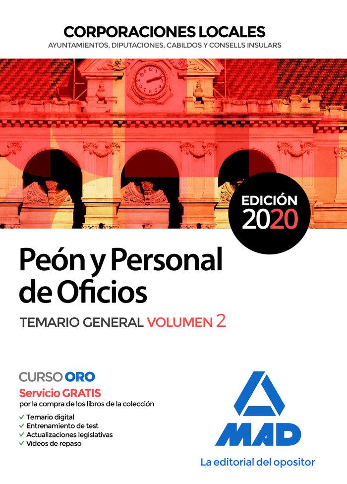 Peon y personal oficio corporacion local temario 2