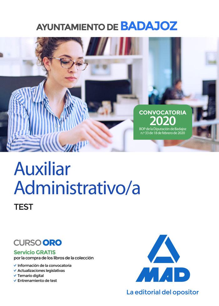Auxiliar administrativo ayuntamiento badajoz test