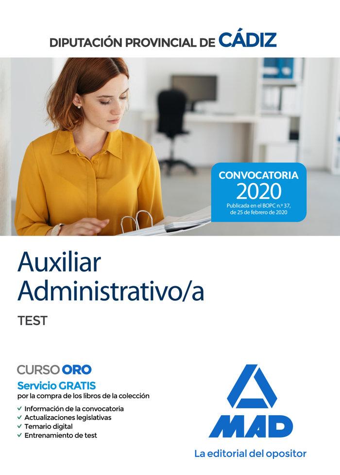 Auxiliar administrativo diputacion provincial cadiz test