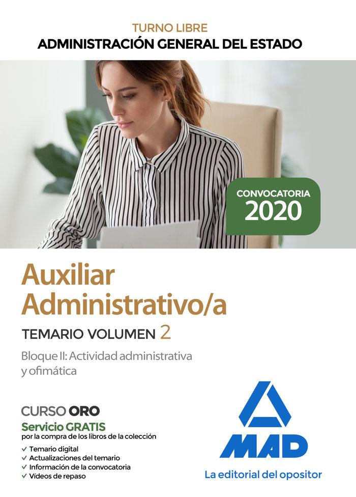 Auxiliar administrativo administracion general estado v 2