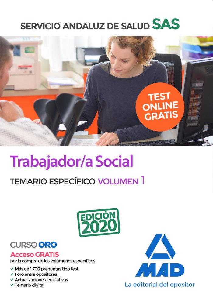 Trabajador/a social servicio andaluz salud temario vol 1