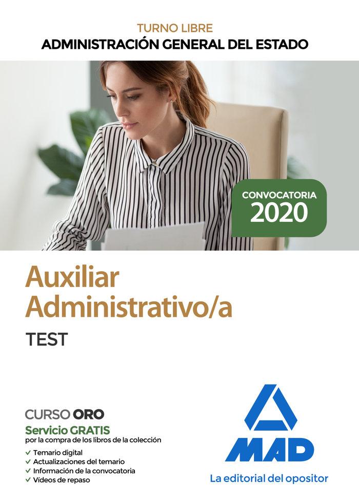 Auxiliar administrativo administracion general estado test